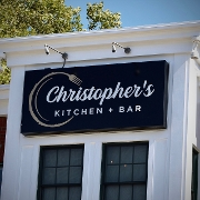 This is the restaurant logo for Christopher's Kitchen and Bar