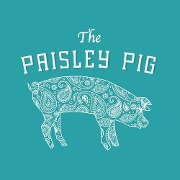 This is the restaurant logo for The Paisley Pig Gastropub