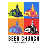 This is the restaurant logo for Beer Church Brewing Co.