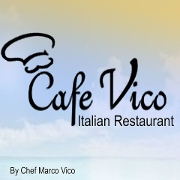 This is the restaurant logo for Cafe Vico Restaurant