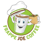 This is the restaurant logo for Frappe Joe Coffee