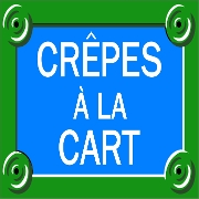 This is the restaurant logo for Crepes a la Cart