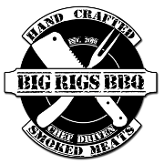 This is the restaurant logo for Big Rig's BBQ