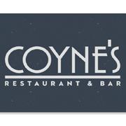 This is the restaurant logo for Coyne's Restaurant & Bar