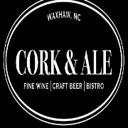 This is the restaurant logo for Cork & Ale, Fine Wine and Craft Beer