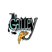 This is the restaurant logo for The Galley Pizza and Eatery