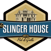 This is the restaurant logo for The Slinger House Pub & Grille