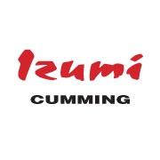 This is the restaurant logo for Izumi -- Cumming--