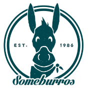 This is the restaurant logo for Some Burros