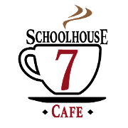 This is the restaurant logo for SchoolHouse 7 Cafe
