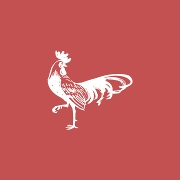 This is the restaurant logo for Roosters
