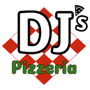 This is the restaurant logo for DJ's Pizzeria
