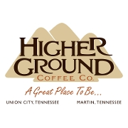 This is the restaurant logo for Higher Ground Coffee Co.