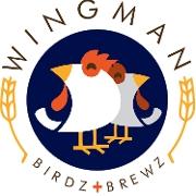 This is the restaurant logo for Wingman Birdz + Brewz