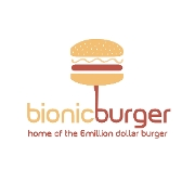 This is the restaurant logo for Bionic Burger