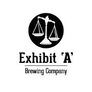 This is the restaurant logo for Exhibit 'A' Brewing Company