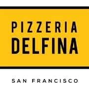 This is the restaurant logo for Pizzeria Delfina