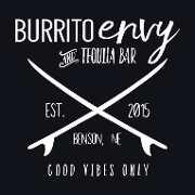 This is the restaurant logo for Burrito Envy & Tequila Bar