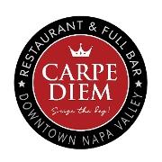 This is the restaurant logo for Carpe Diem Restaurant & Bar