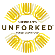 This is the restaurant logo for Sheridan's Unforked