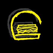 This is the restaurant logo for Grind & Grill Burger