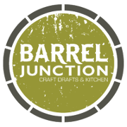 This is the restaurant logo for Barrel Junction