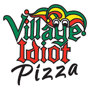 This is the restaurant logo for Village Idiot Pizza