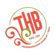 This is the restaurant logo for THB Bagelry & Deli