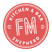 This is the restaurant logo for FM Kitchen & Bar