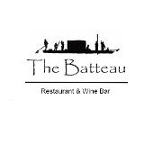 This is the restaurant logo for The Batteau