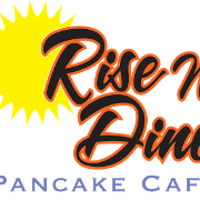 This is the restaurant logo for Rise N Dine Pancake Cafe