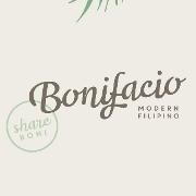 This is the restaurant logo for Bonifacio: Modern Filipino