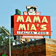 This is the restaurant logo for Mama Mia's - West Allis