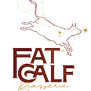 This is the restaurant logo for Fat Calf Brasserie