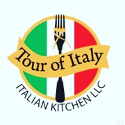 This is the restaurant logo for Tour Of Italy Italian Kitchen, LLC