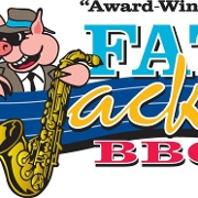 This is the restaurant logo for Fat Jack's BBQ