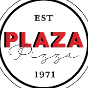 This is the restaurant logo for Plaza Pizza