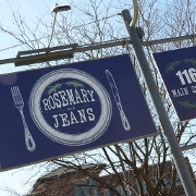 This is the restaurant logo for Rosemary and Jeans