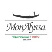 This is the restaurant logo for MonAlyssa Italian Restaurant & Pizzeria