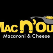 This is the restaurant logo for Mac N' Out Macaroni & Cheese