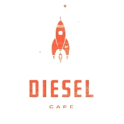 This is the restaurant logo for DIESEL CAFE **LIMITED HOURS & MENU DURING RENOVATIONS**