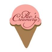 This is the restaurant logo for Pav's Creamery