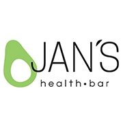 This is the restaurant logo for Jan's Health Bar
