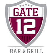 This is the restaurant logo for Gate 12 Bar & Grill