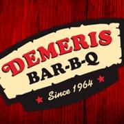 This is the restaurant logo for Demeris Bar-B-Q