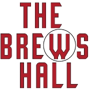 This is the restaurant logo for The Brews Hall