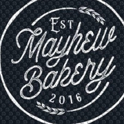 This is the restaurant logo for Mayhew Bakery