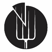 This is the restaurant logo for Pitchfork Pizza Parlor