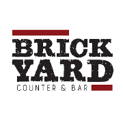 This is the restaurant logo for Brickyard Counter & Bar