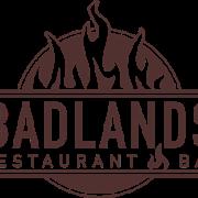 This is the restaurant logo for Badlands Restaurant & Bar
